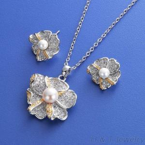 珍珠項鍊耳環飾品組