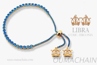 LIBRA 925純銀寶石手鍊