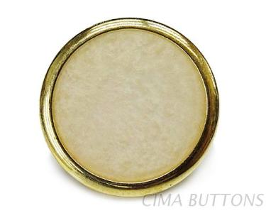 小圓邊造型珠光色塘瓷立腳鈕釦