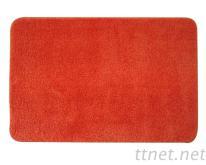 柔軟吸水防滑踏墊,家庭浴室墊.門墊PO素色紅色