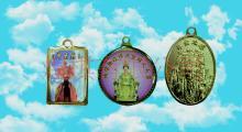 銅製品聖君廟法主護身符吊墜