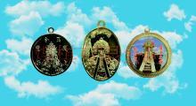銅製品玉令天上聖母護身符吊墜