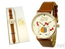 客製化 超薄玫瑰金手錶 皮錶 織帶錶