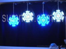 LED 水晶雪花吊掛組