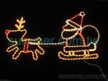 LED Q版麋鹿與老公公