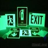綠色噴繪PVC夜光膜, 綠色光刻字PET發光膜, 熒光材料, 印刷蓄光膜