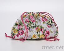 束口印花收納包, 化妝包, 手拿包