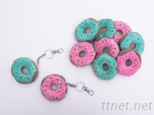 絨毛甜甜圈鑰匙圈