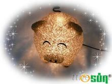 開運黃金豬擺飾燈