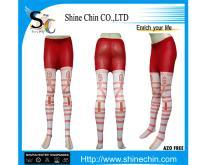 斜纹粉红裤袜