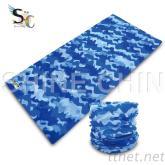 T-2150_蓝色迷彩头巾 魔术头巾