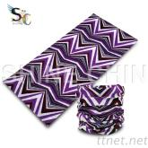 I - 1007_紫底M型 魔術頭巾
