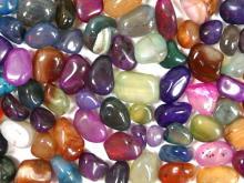 彩色瑪瑙碎石