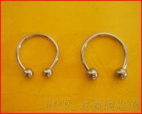 简约风格 金属钥匙圈 钥匙扣 高品质铜材质 二边圆球可以转下来 可来样加工