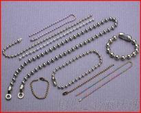 廠家直銷 金屬珠鍊 服裝 牛仔褲 箱包配飾 圓珠鏈 長短珠鍊 米珠鏈 彩色珠鍊 質佳價優