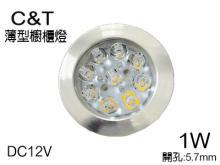 超薄型衣櫃 櫥櫃燈3W 5.7開孔
