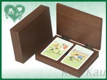 撲克牌雙副木盒裝