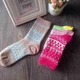 雙針筒棉襪, 彩色對目男女襪