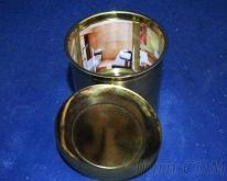 鈦金內膽骨灰罐-外部素面內部別墅