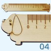 造型木尺系列-臘腸狗-LL-04