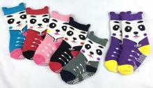 7708-3D黑輪熊貓毛巾防滑襪