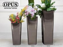 不锈钢艺术, 圆角锥形花器, 大型落地花瓶-黑色大型艺术品