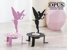 OPUS 欧式铁艺-精灵之光 《花仙子烛台》经典黑 金属烛台 气氛灯 家饰 放松 香氛 卧房 礼品