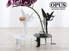 OPUS 歐式鐵藝-精靈之瓶 《花仙子瓶插》優雅白 插花瓶器 玻璃花器 餐廳餐桌裝飾品擺飾佈置