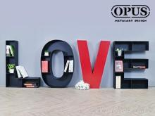 OPUS 英文壁饰落地书架 LOVE书柜 收纳架铁架置物架置物柜书柜收纳柜书店