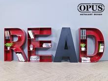 OPUS 英文壁饰落地书架 READ书柜 书店咖啡厅民宿适用 文创书架 创意书架 立体书架 书房摆饰收纳