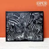 OPUS 東齊金工 金屬藝術掛畫-狂野之美 斑馬 無框畫經典名畫立體掛畫客廳家居掛畫黑白動物