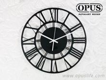 OPUS東齊金工 歐式鐵藝時鐘-羅馬數字 裝飾藝術掛鐘 雷射雕刻
