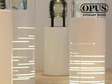 OPUS 东齐金工 航港局灯塔修护工场 展示灯座 公共艺术 激光雕刻