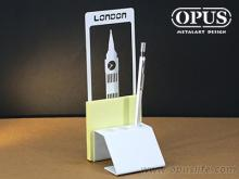 OPUS東齊金工 歐式鐵藝便條筆座-巴黎鐵塔 Memo座便條夾 筆筒筆座 書寫辦公用品 PE-Pa12