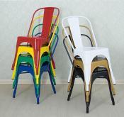 餐廳靠背椅子, 火鍋店咖啡廳金屬餐椅, 休閒靠背凳座椅