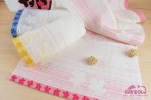 葉之舞紗布提花毛巾