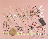 吊粒,服飾商標,塑膠,金屬殼