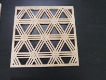 鏤空窗花造型雕刻板 B