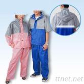 超潑水PU透氣雨衣