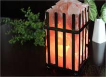 鐵欄型水晶鹽燈