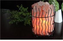 細圓欄水晶鹽燈