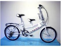 豪華版 20吋 21速 SHIMANO 摺疊 親子車