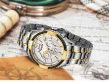 男士手錶, 全自動機械錶 防水精鋼皮帶男錶