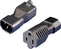 IEC 320 C14 转 5-15R转换插头