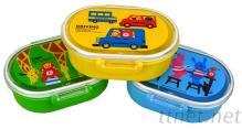 环保pp料卡通儿童双层便当盒、午餐盒