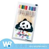 儿童文具猫熊12色长彩色铅笔组
