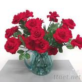 人造玫瑰花, 植絨玫瑰, 玫瑰花批發, 花束批發