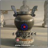 手工雕刻青鬥石雙耳天公爐直徑68cm