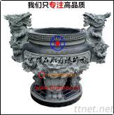 寺院大堂-石雕雙龍天公爐