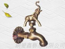 銅製大象園藝戶外水龍頭